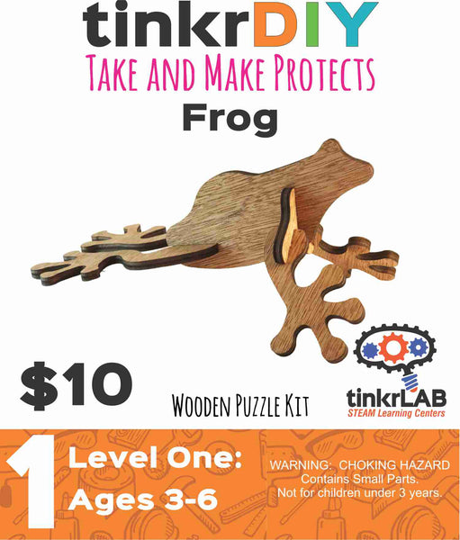 Wooden Puzzle - Frog - tinkrLAB