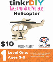 Wood Puzzle - Helicopter - tinkrLAB