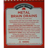 Metal brain drains