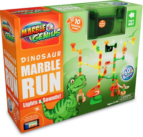 Dinosaur Marble Run Lights & Sounds (60 Pieces)