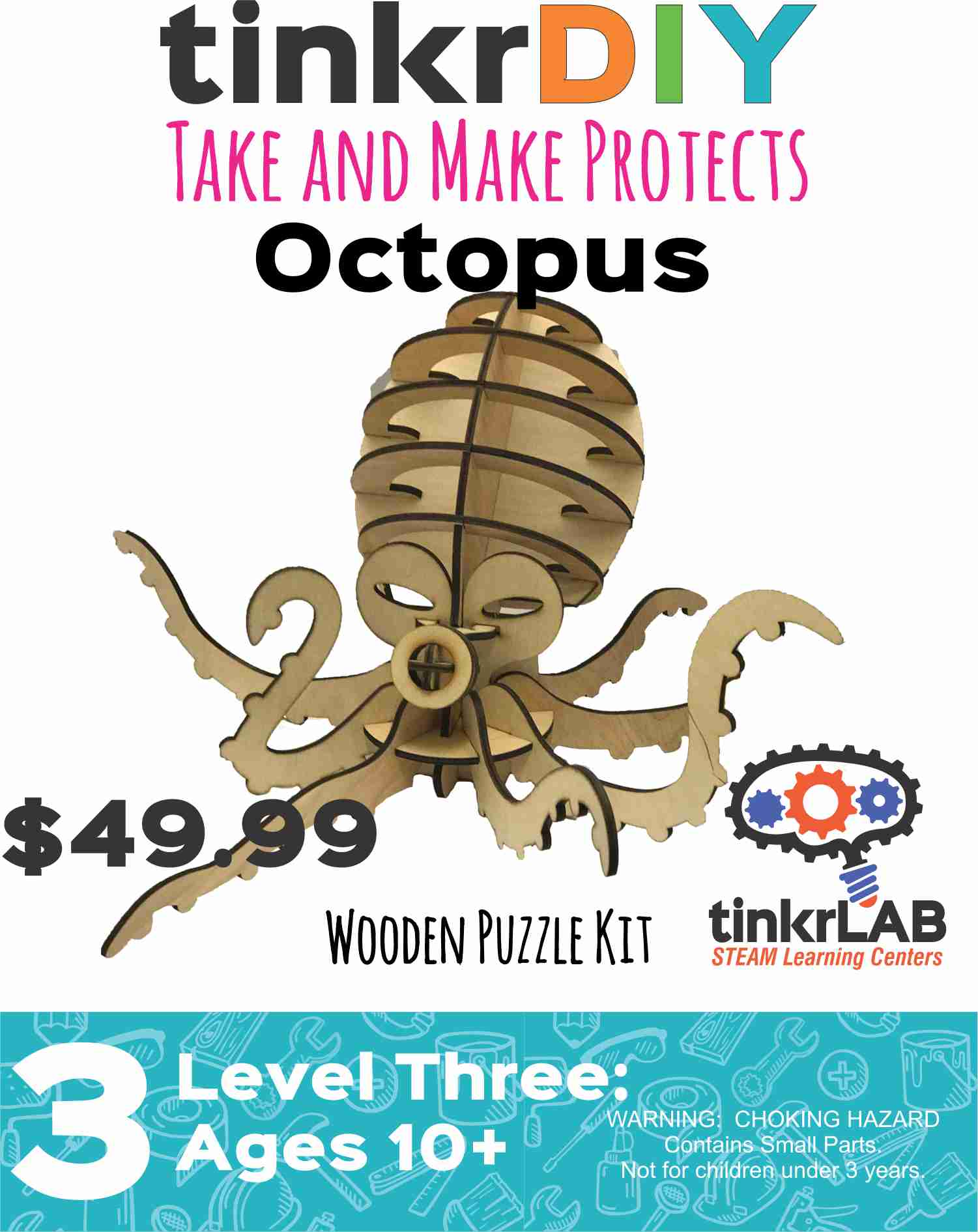 Wood Puzzle - Octopus
