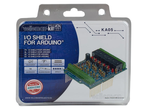 I/O Shield for arduino - tinkrLAB