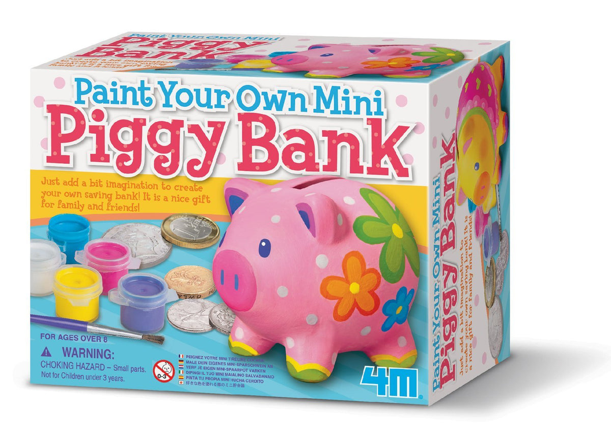 Paint your own Mini Piggy Bank