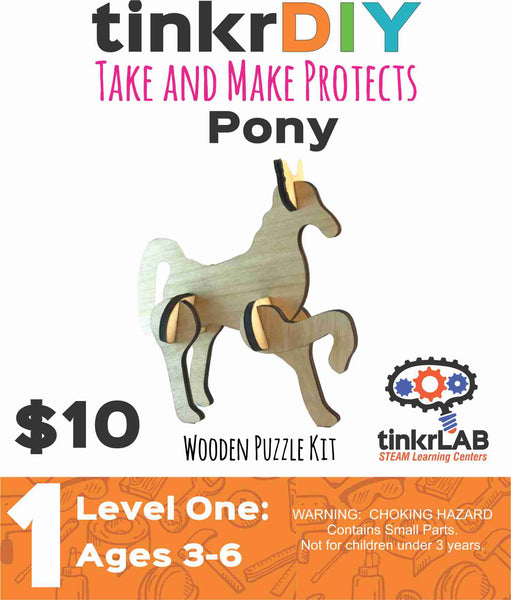 Wood Puzzle - Pony - tinkrLAB