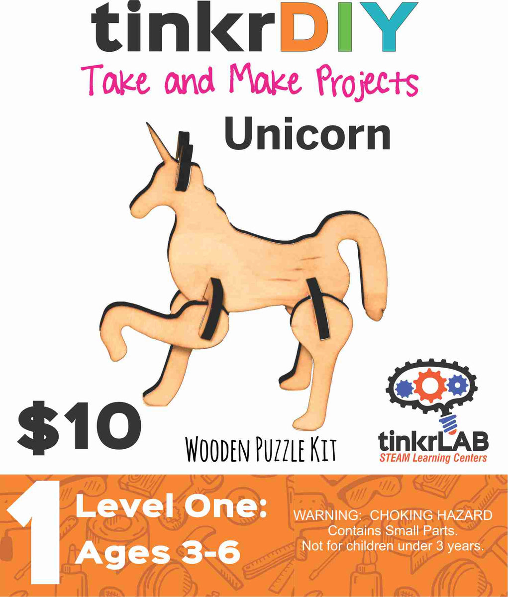 Wood Puzzle - Unicorn