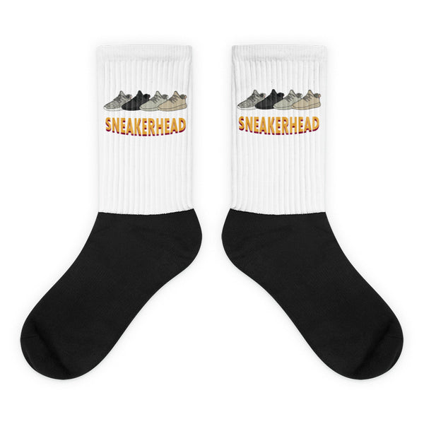 Sneaker Head Black foot socks