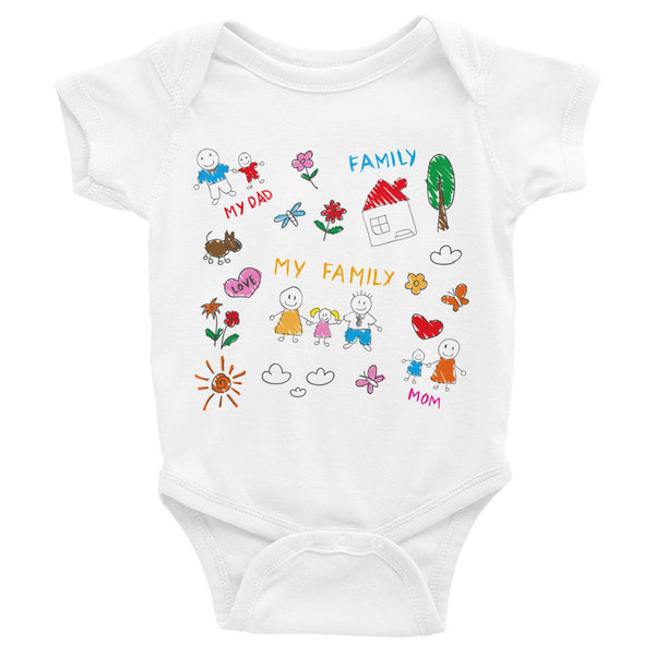 My Family Infant short sleeve one-piece