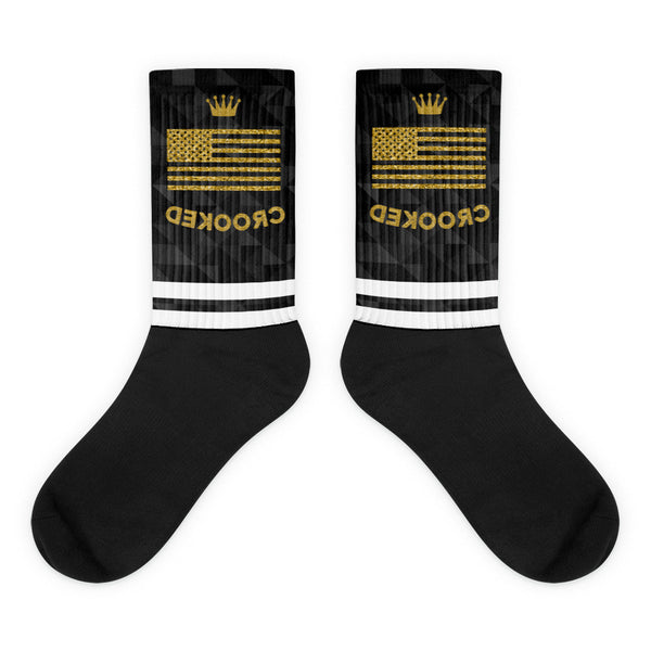 Crooked Black foot socks