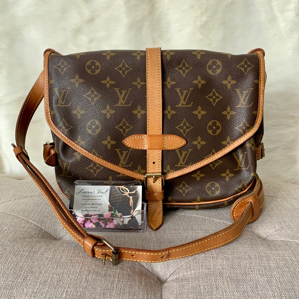 LOUIS VUITTON AUTHENTIC SAUMUR 30 MONOGRAM (AR0925)