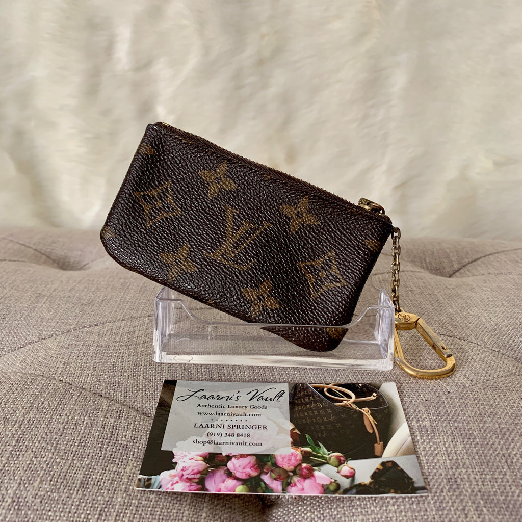 LOUIS VUITTON AUTHENTIC KEY CLES/POUCH MONOGRAM (CA0925)