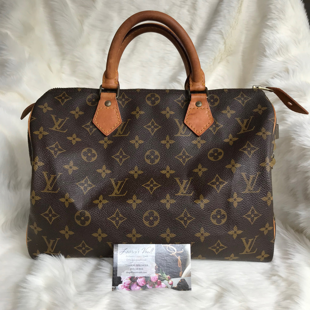 LOUIS VUITTON AUTHENTIC SPEEDY 30 MONOGRAM (852SA)
