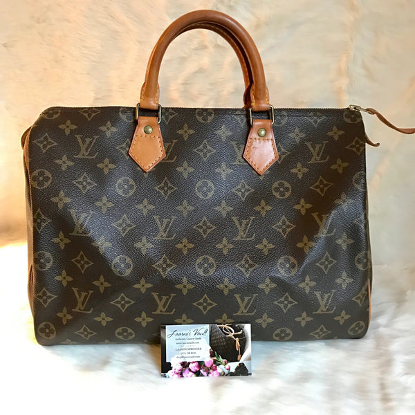 LOUIS VUITTON AUTHENTIC SPEEDY 35 MONOGRAM (MB8910)