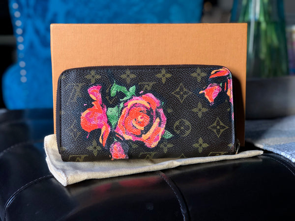 LOUIS VUITTON AUTHENTIC STEPHEN SPROUSE ROSES WALLET MONOGRAM (CA0069)