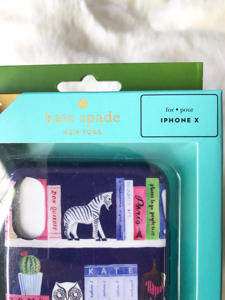 KATE SPADE AUTHENTIC iPHONE X CASE - LIBRARY
