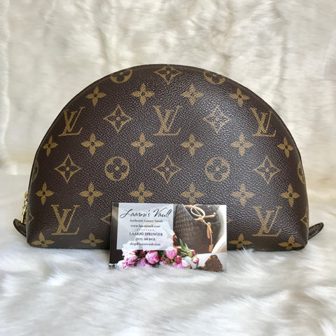 LOUIS VUITTON AUTHENTIC COSMETIC POUCH DEMI RONDE GM MONOGRAM (TH1013)