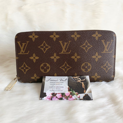 LOUIS VUITTON AUTHENTIC ZIPPY WALLET MONOGRAM (GI2184)