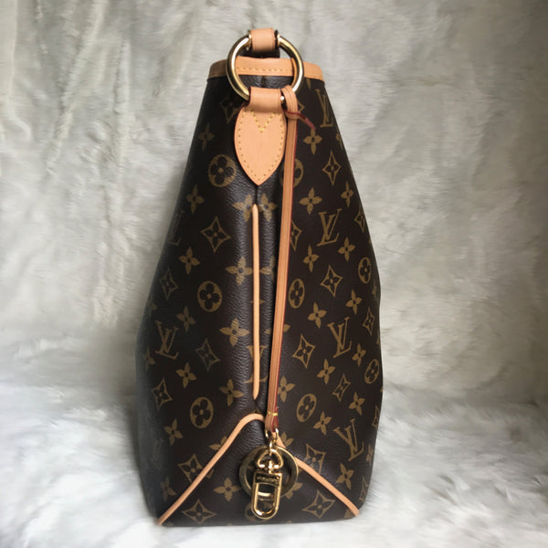 LOUIS VUITTON AUTHENTIC DELIGHTFUL MM MONOGRAM WITH PIVOINE INTERIOR (MI4135)