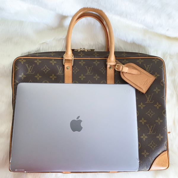 LOUIS VUITTON AUTHENTIC PORTE DOCUMENT VOYAGE LAPTOP BAG MONOGRAM (TH0927)