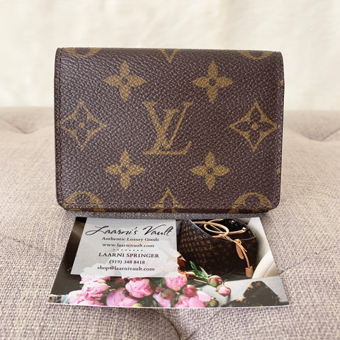LOUIS VUITTON AUTHENTIC CARD CASE MONOGRAM (CA0015)