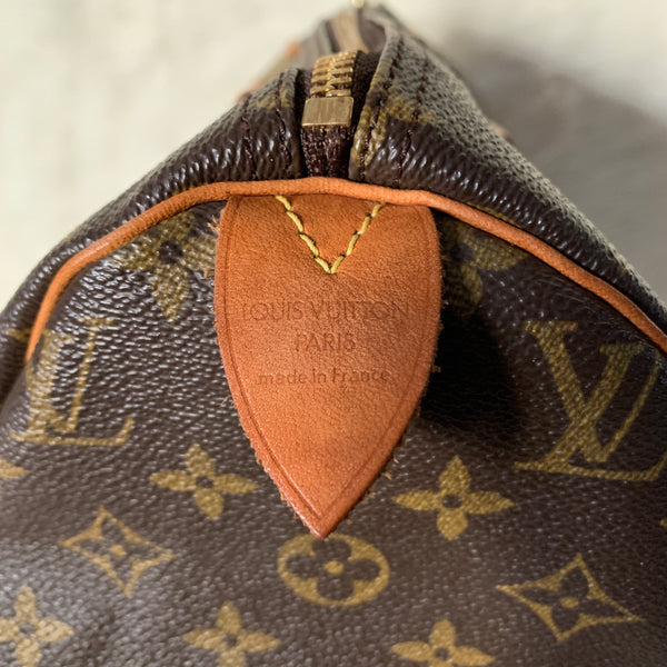 LOUIS VUITTON AUTHENTIC SPEEDY 30 MONOGRAM (SP1909)