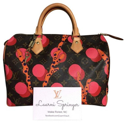 LOUIS VUITTON AUTHENTIC LIMITED EDITION RAMAGES SPEEDY 30 MONOGRAM