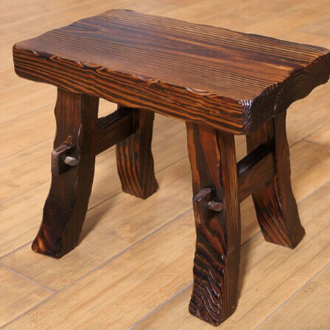 Creative Wood Retro Rustic Wooden Stool