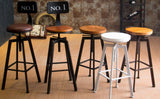 Vintage Retro Rustic Swivel Bar Stool - Above The Floor