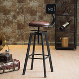 Vintage Retro Rustic Swivel Bar Stool