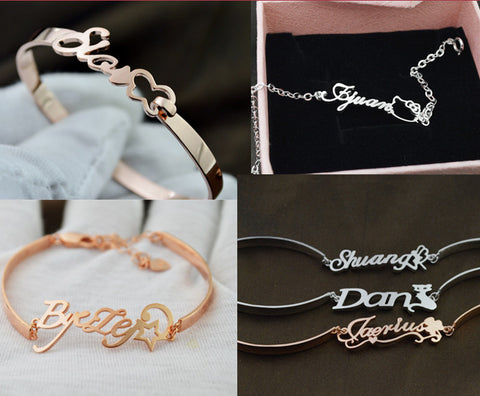 [Private Crafted] Pupular style, Custom Name Bangle & Bracelet