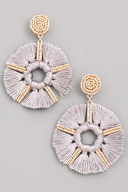 Styled - grey fan earring