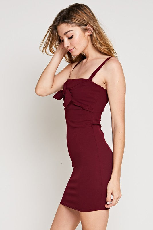 Styled - spaghetti strap dress with front tie