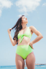 Alaine top - neon green