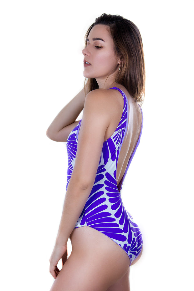 Alya low back - violet print