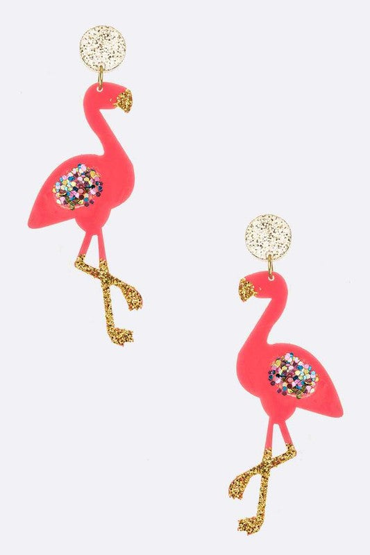 Styled - flamingo earrings