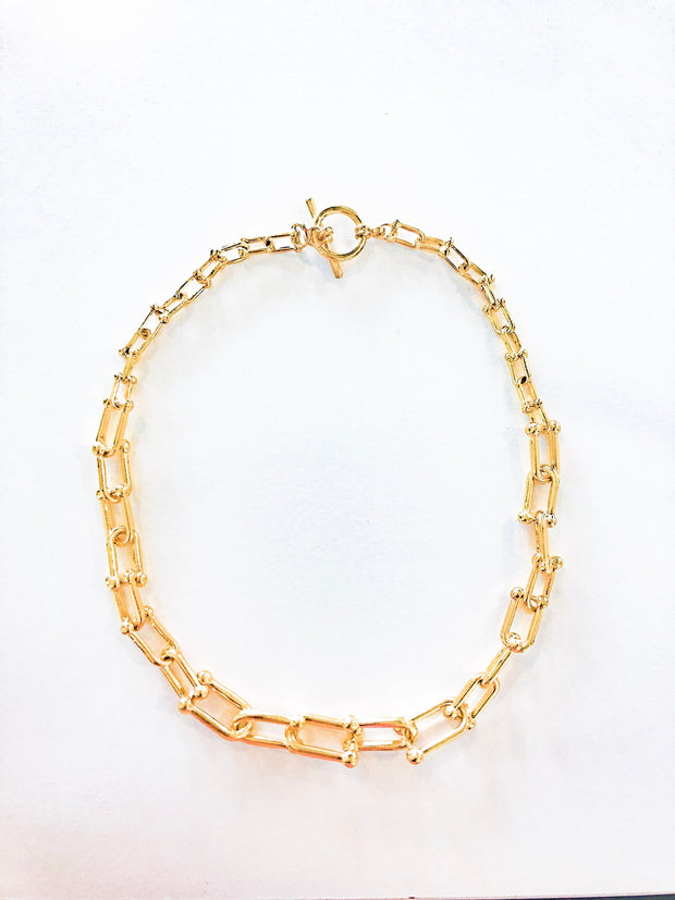 Chains necklace - golden