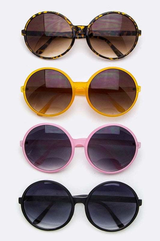 Styled metallic sunglasses