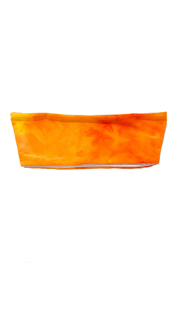 Alula bandeau top - tie dye orange