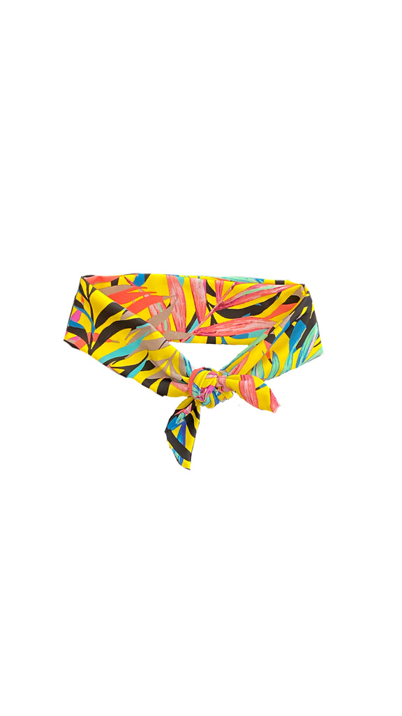yellow palms headband