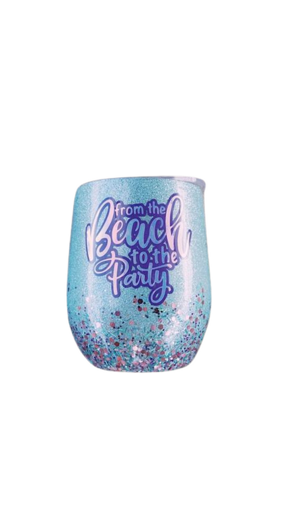 marena's details - from the beach to the party cup turquoise & purple