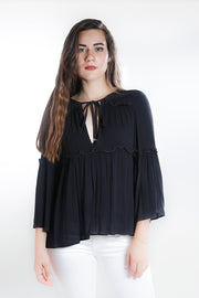 Styled - black tunic top