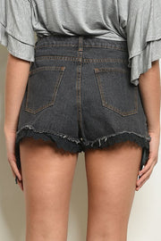 Styled - black jean shorts