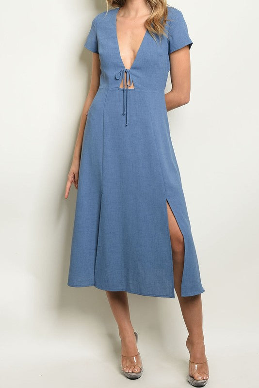 Styled - blue midi dress