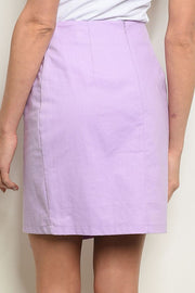 Styled - lilac button skirt