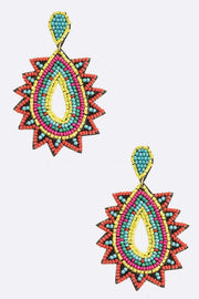 affordable statement earrings multicolor beaded