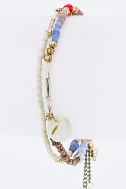 cute affordable jewelry quartz & beads multicolored bracelet