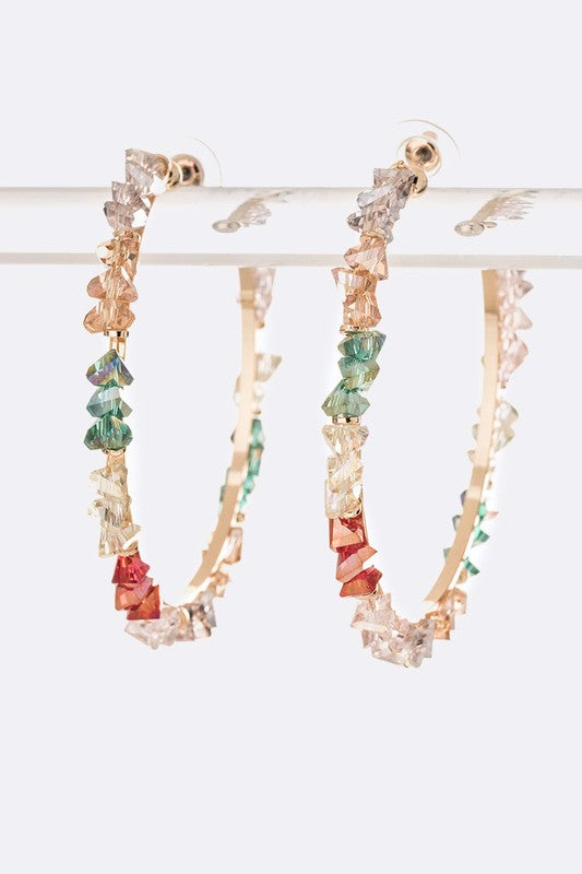 cute jewelry rainbow hoop earrings