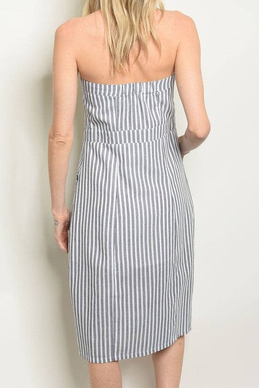 Styled - strapless midi dress