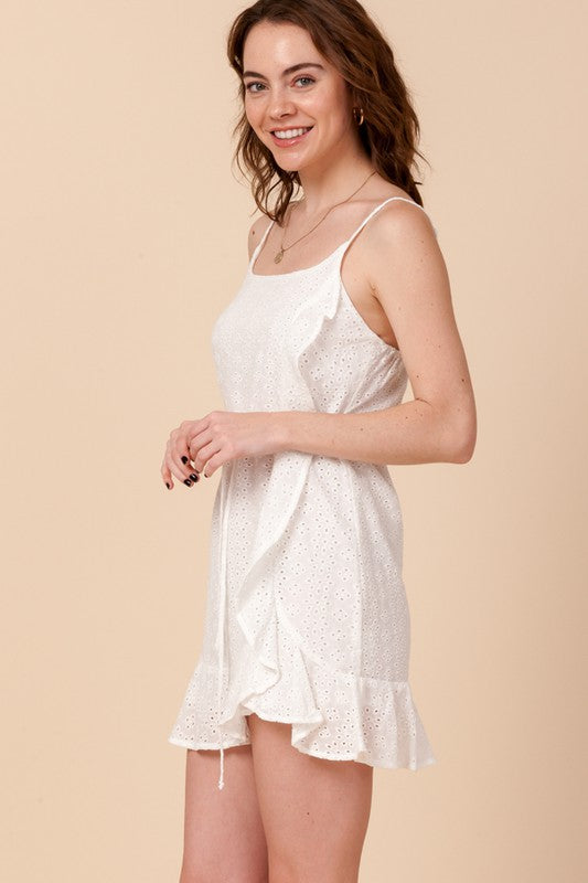 Styled - white eyelet dress
