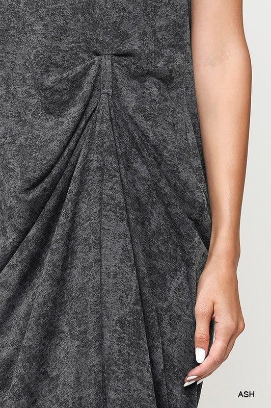 Styled - gray midi dress