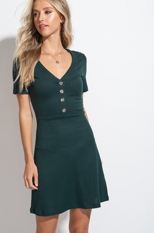 Styled - hunter green dress